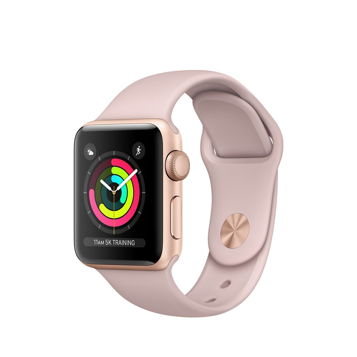 Refurbished Apple Watch Series 3 Gps 38mm Gold Aluminum Case With