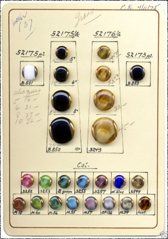 Czech Glass Button Sales Sample Card  Google Search  Buttons