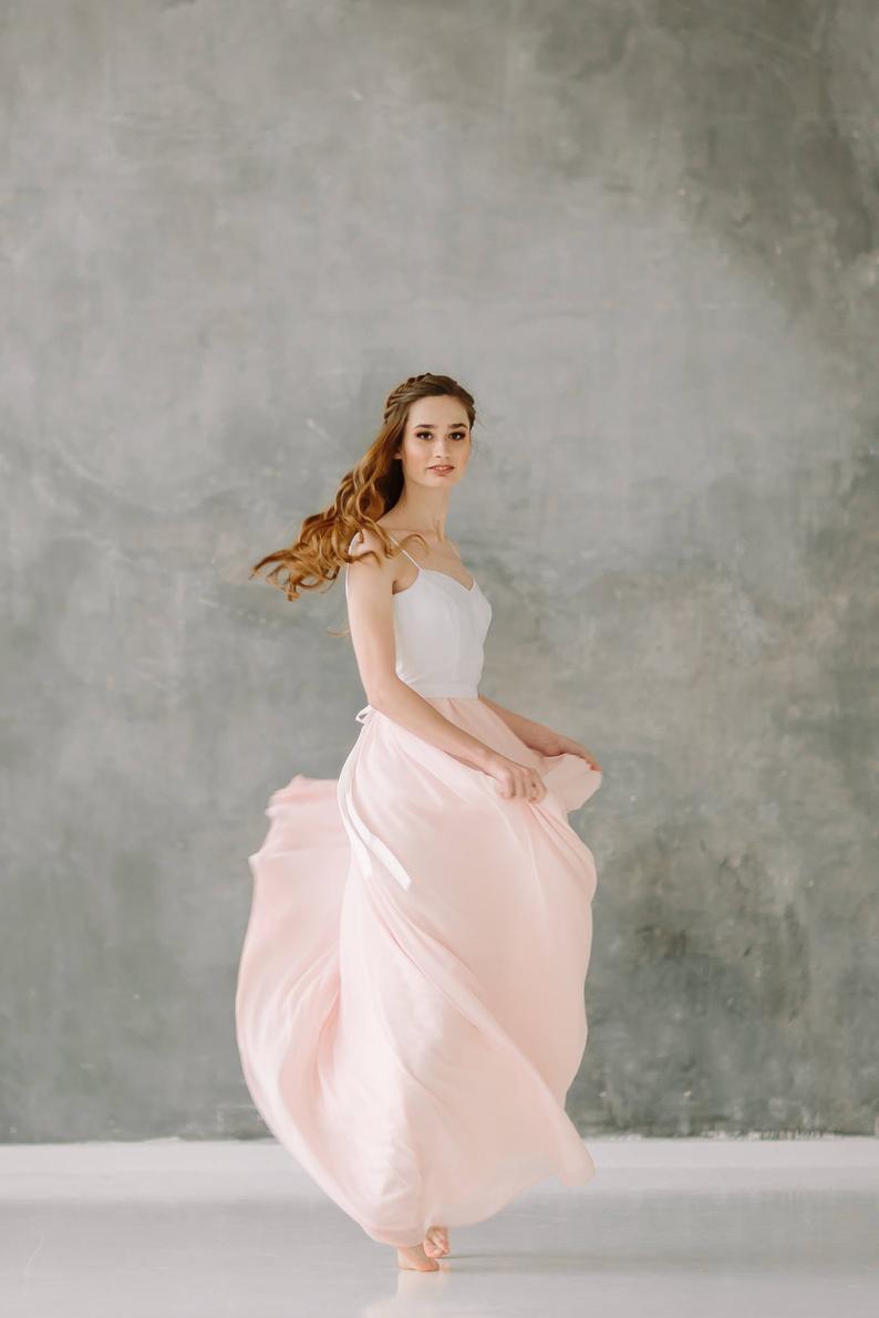 Slip wedding dress color wedding dress spaghetti strap  Etsy in
