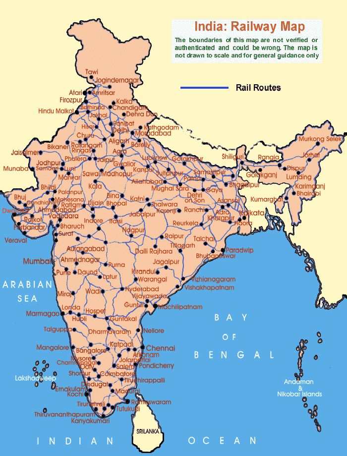 map of india railway Map of India With States Pinterest India