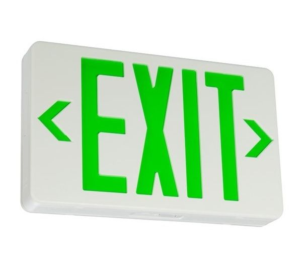 Led Exit Signs Green Energy Star Exit Sign Led Commercial Lighting Design