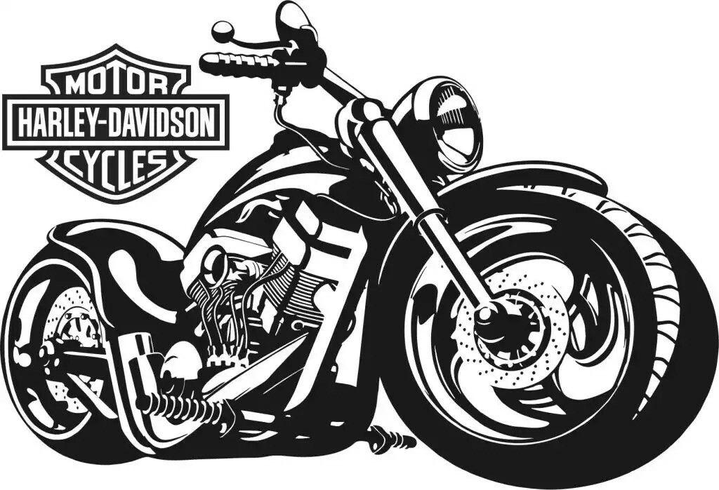 dibujo de moto harley davidson www.aretesparahombres.com