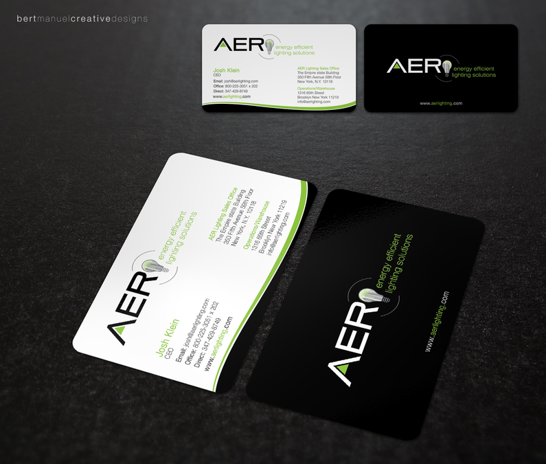 aer lighting business card by