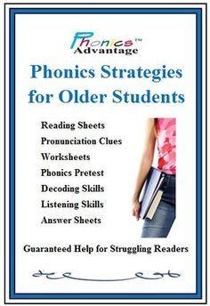 Phonics Strategies For Older Students By Phonics Advantage From Phonicsadvantage On Teachersnotebook Com 218 Phonics Interventions Phonics Rules Phonics Words Phonics worksheets for older students