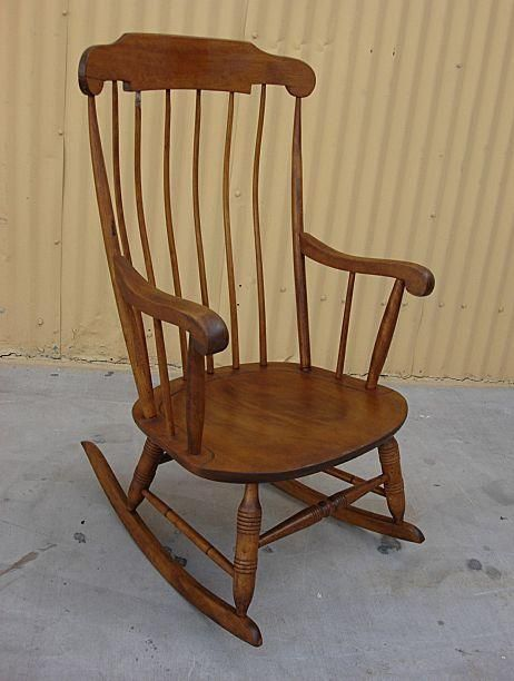 Antique American Antique Maple Rocking Chair American Antique Furniture - Antique American Antique Maple Rocking Chair American Antique