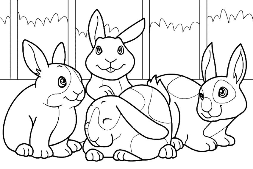 Bunny Coloring Pages Clip Art Bunnies Animal Coloring Pages