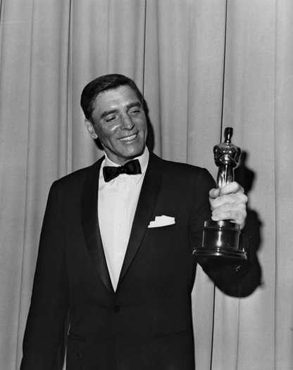"""1961 Oscars: Burt Lancaster, Best Actor 1960 for """"Elmer ..."""