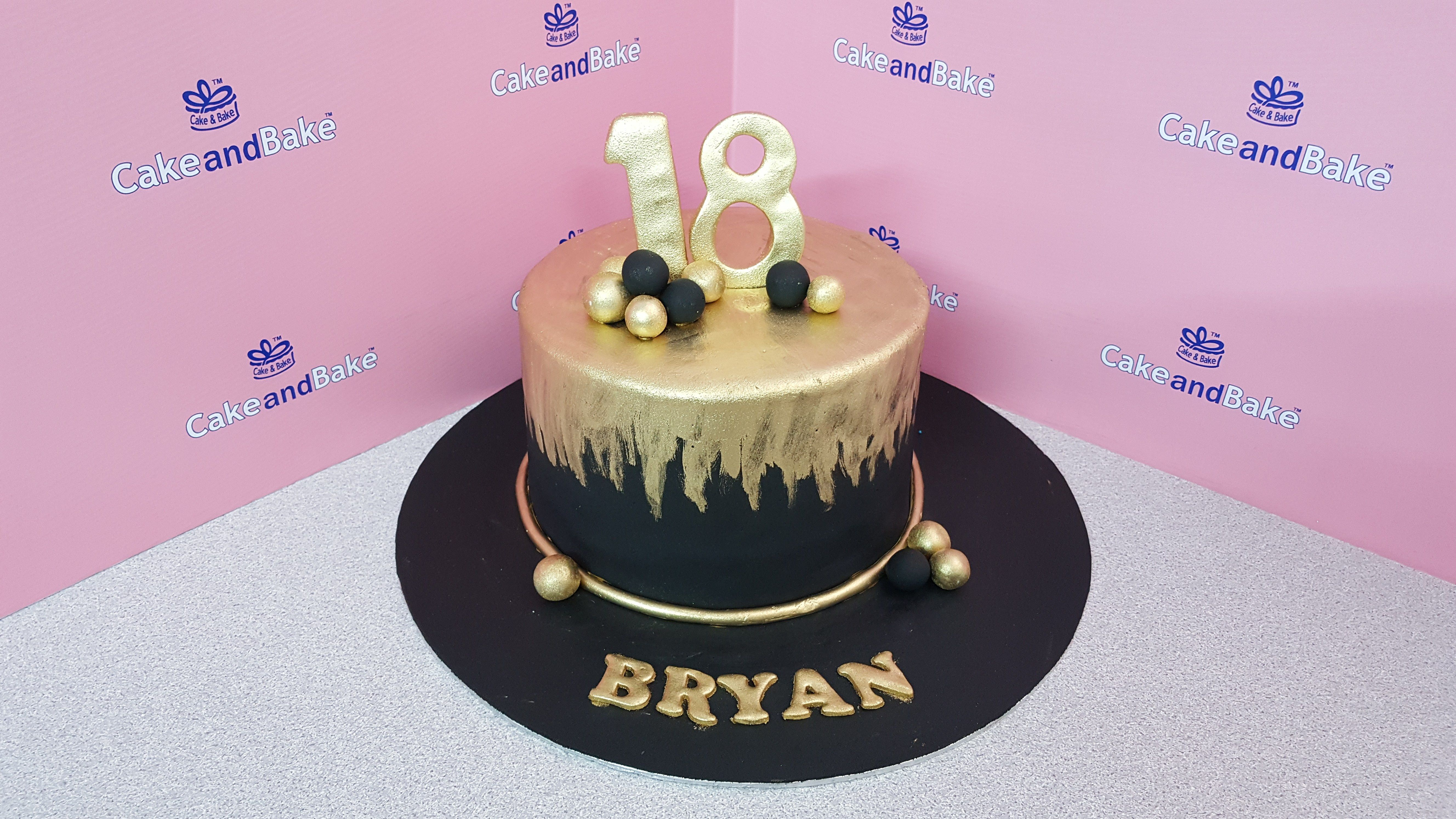 25 Great Picture Of Black And Gold Birthday Cake With Images