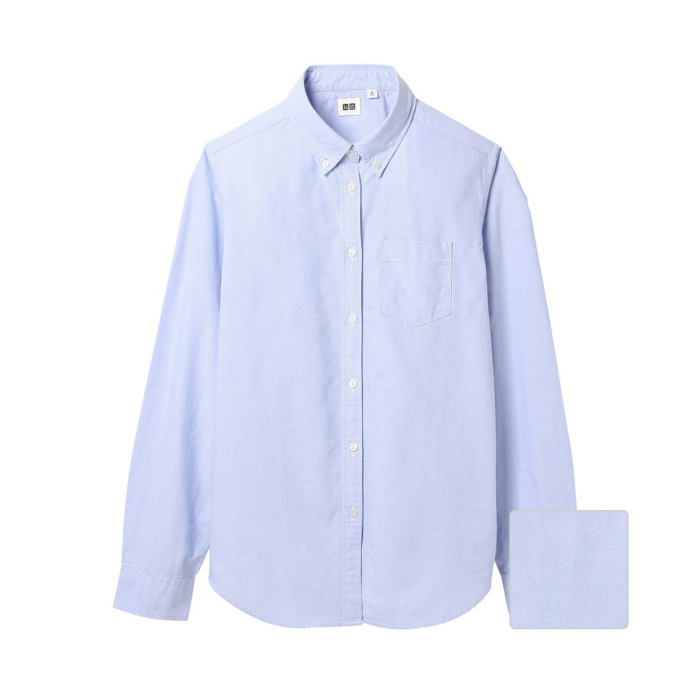 Uniqlo women oxford long sleeve shirt jasmine baker pick me up one