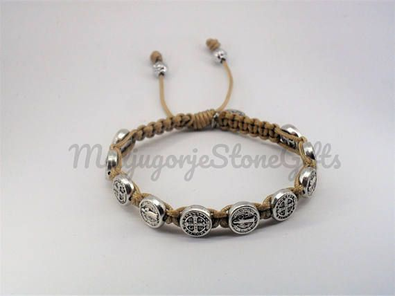 9 90 St Benedict Blessing Bracelet Catholic Silver Medals The Benedictine
