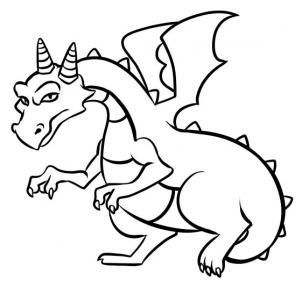 How To Draw A Easy Dragon Step 8 Dragons And Dinosours Drawings