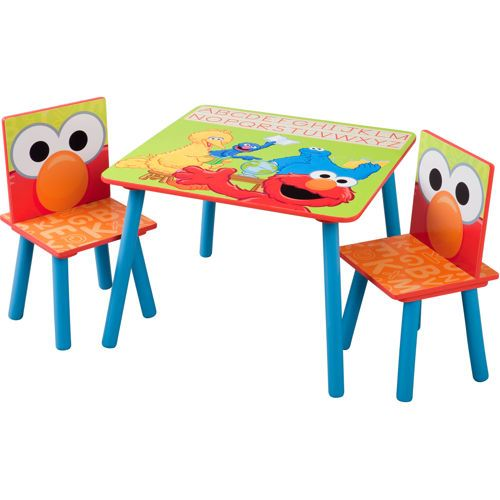 Phenomenal Sesame Street Table And Two Chairs Kids Table Chair Set Pdpeps Interior Chair Design Pdpepsorg