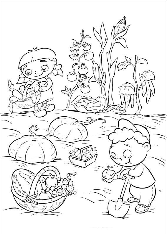 little einsteins harvesting vegetables and fruits