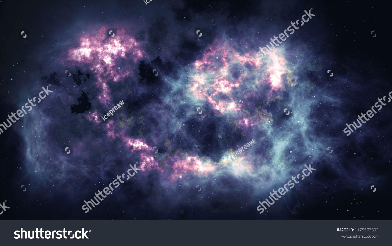 4K Sparkle shinny blue star particle motion on black
