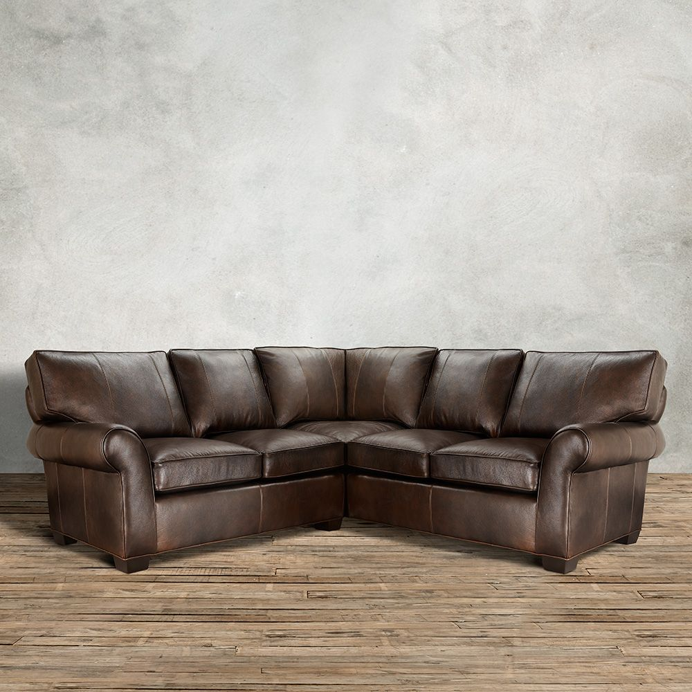 Relax Into The Arms Of The Supportive U0026 Supple Arhaus Brentwood Three Piece Leather  Sectional In Matador Walnut.