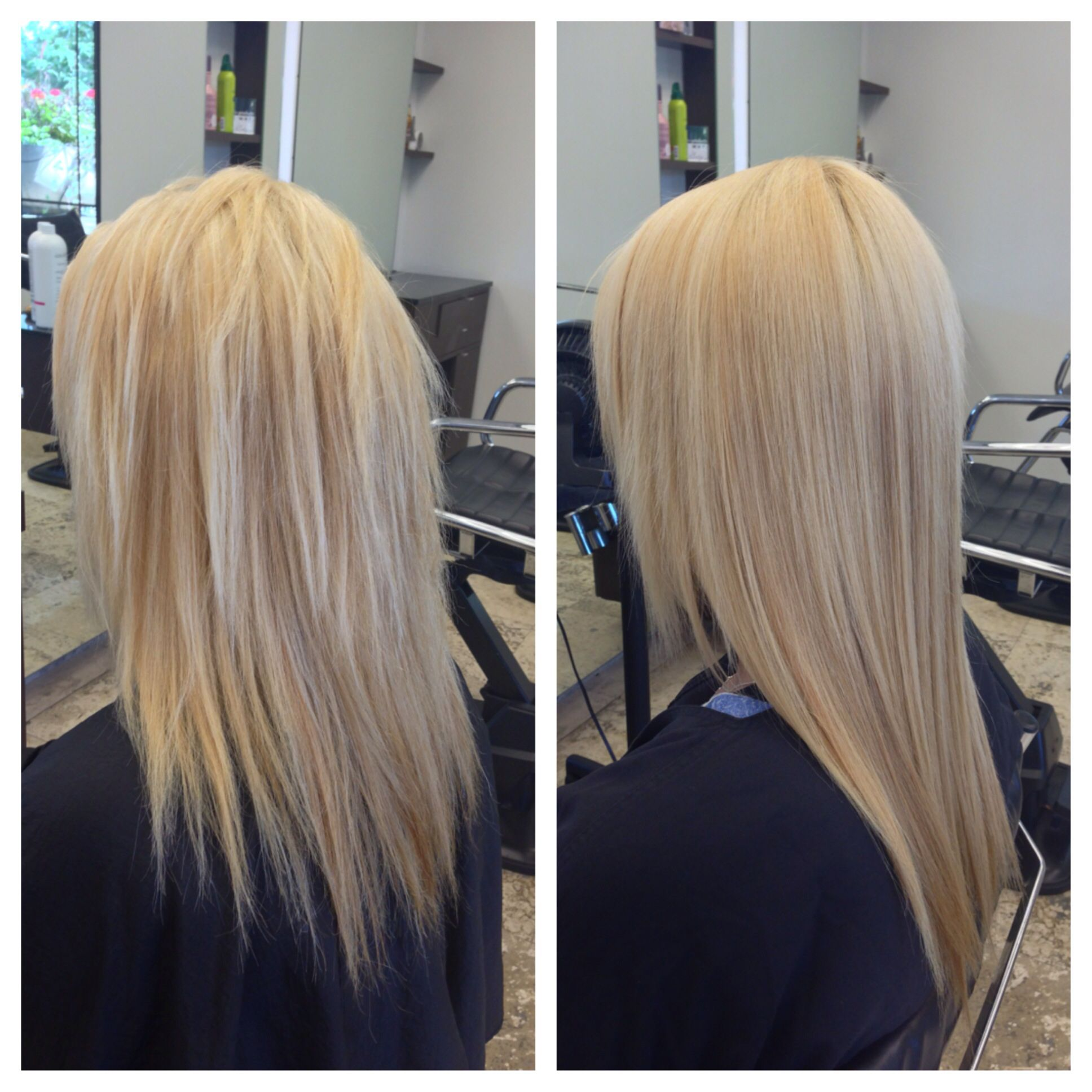 before and after of a keratin treatment. hairjayma | hair