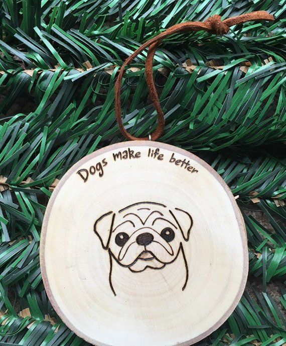 Pug Dog Christmas Ornaments Personalized Dog Ornament Small Dog