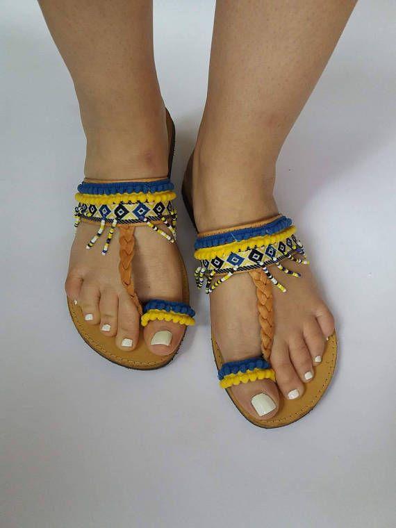 1aa8dbee43ca6 Greek sandals/ Evil Eye Sandals/ Greek Leather Sandals/ Black & Gold ...