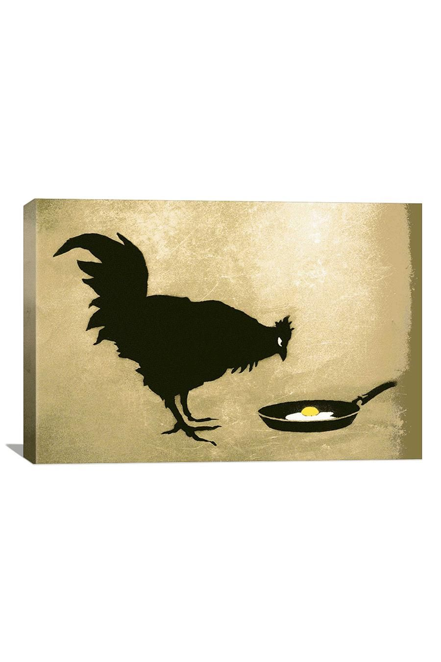 Banksy Chicken & Egg Canvas Print | <Art> | Pinterest | Banksy, Egg ...