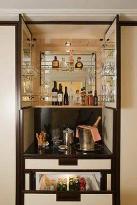Habitually Chic X Spots The Mark Mini Bar Hotel Room Design