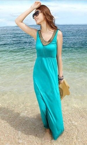 fb3e97452838 www.fshoppers.com - buy online women clothes in india Maxi English sky blue  dress will look fabulous and you will feel more energetic.