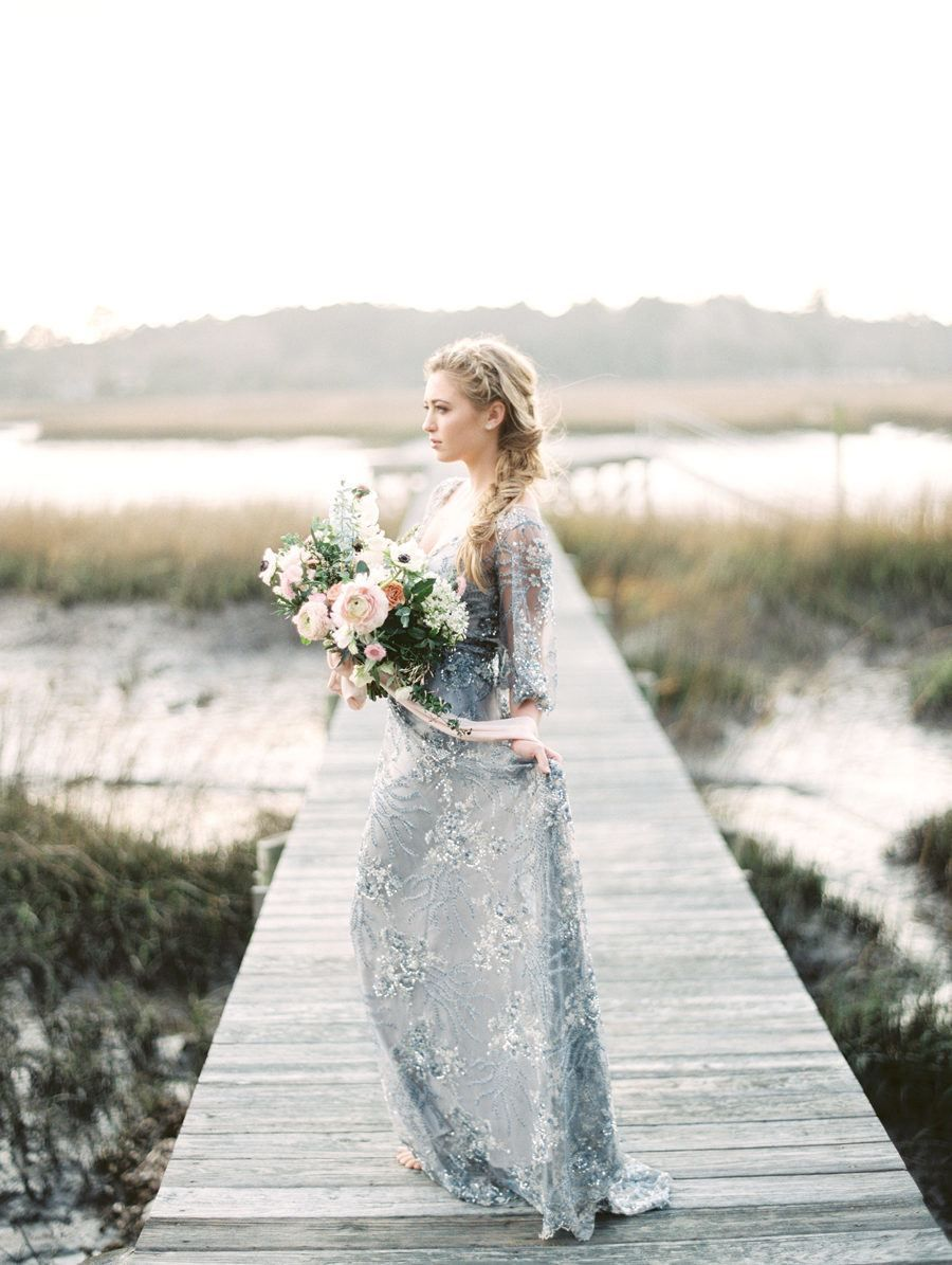 color wedding dresses that are positively perfect for fall brides