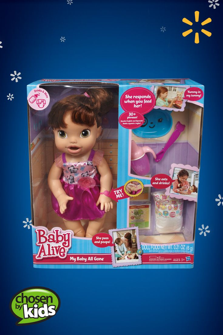 Baby Alive My Baby All Gone Doll Walmart The Perfect Gift For Little Girls Who Love To Care For Baby See The F Baby Alive Little Girl Gifts Baby Alive Dolls