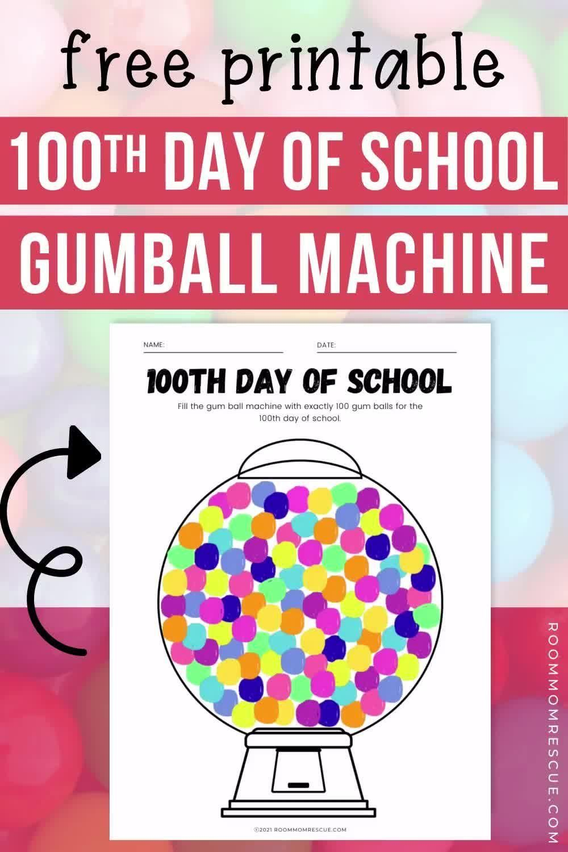 100th Day Of School Gumball Machine Video Video In 2021 100 Days Of School Elementary School Supplies Gumball Machine