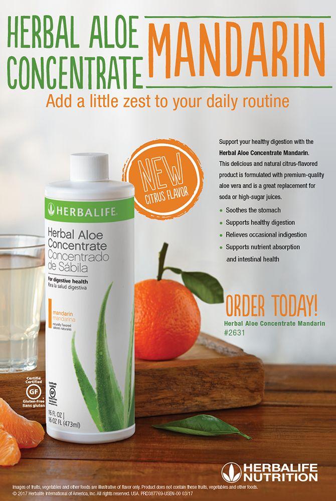 New Product Mandarin Aloe Concentrate Herbalife Herbalife Nutrition Club Herbalife Diet