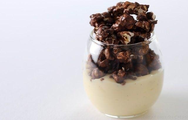 Chocolate Popcorn Recipe With Coconut Custard