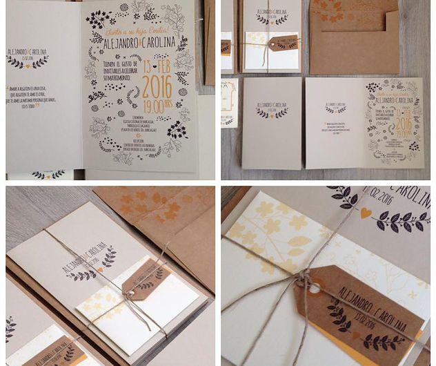 Diseño de partes - Invitaciones de matrimonio y complementos boda - diseos vintage