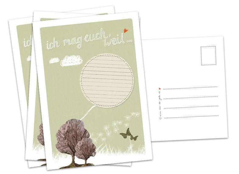 Hochzeitskarten - Hochzeitsspiel: 26x Ich mag euch, weil