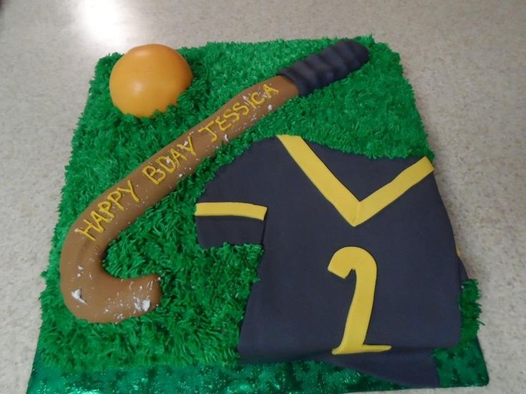 36 Awesome Field Hockey Birthday Cake Images Hockey Birthday Hockey Birthday Cake Field Hockey