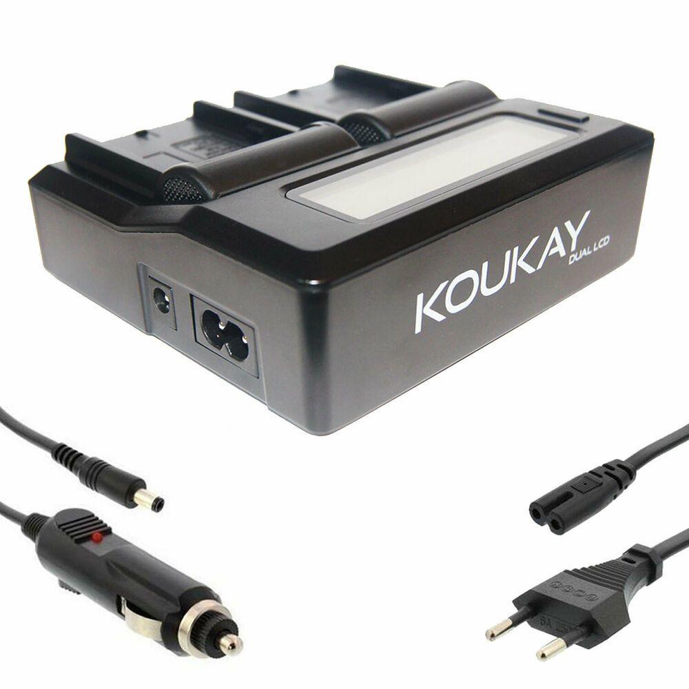 Koukay Dual Ladegerat Fur Akku Np F330 Np F750 F960 Np F970 Np Fm50 Fm55 Fm500h Camescope