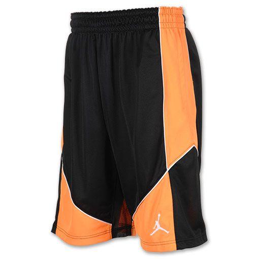 Men's Jordan Aero Fly Mania Basketball Shorts| FinishLine.com | Black/Bright Citrus