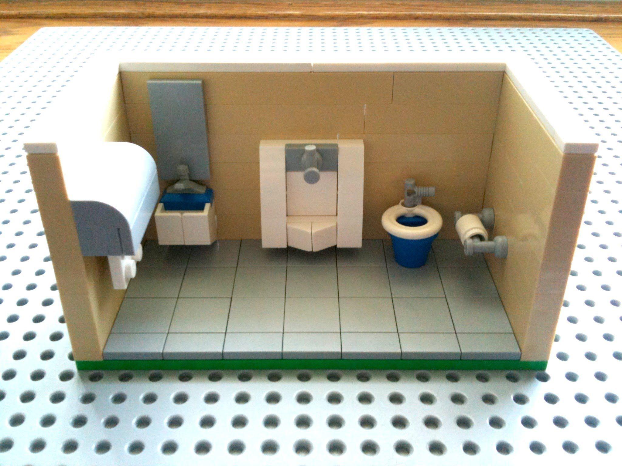Tutorial Lego Public Bathroom Cc Lego Furniture Lego Bathroom Lego Diy