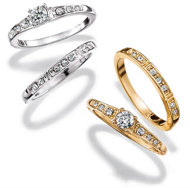 Gold-tone or Silver-tone wedding band sets for under $20 ...
