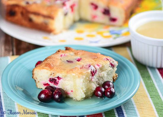 Homemade Fresh Cranberry Christmas Cake is an easy homemade moist white cake with orange zest that is made from scratch with fresh cranberries. This cake is perfect for a Christmas or holiday party. ~ http://FlavorMosaic.com