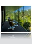 Amazing hotel with steel & glass walls overlooking the forest | hotel Juvet | Norway