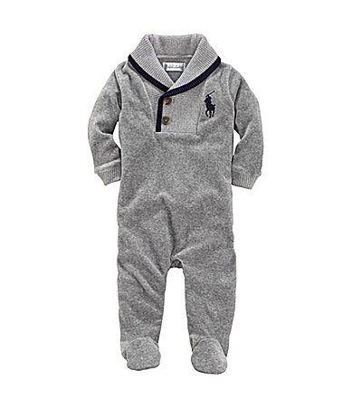 a4f19b13 Ralph Lauren Childrenswear Newborn Velour Coverall #Dillards | Baby ...