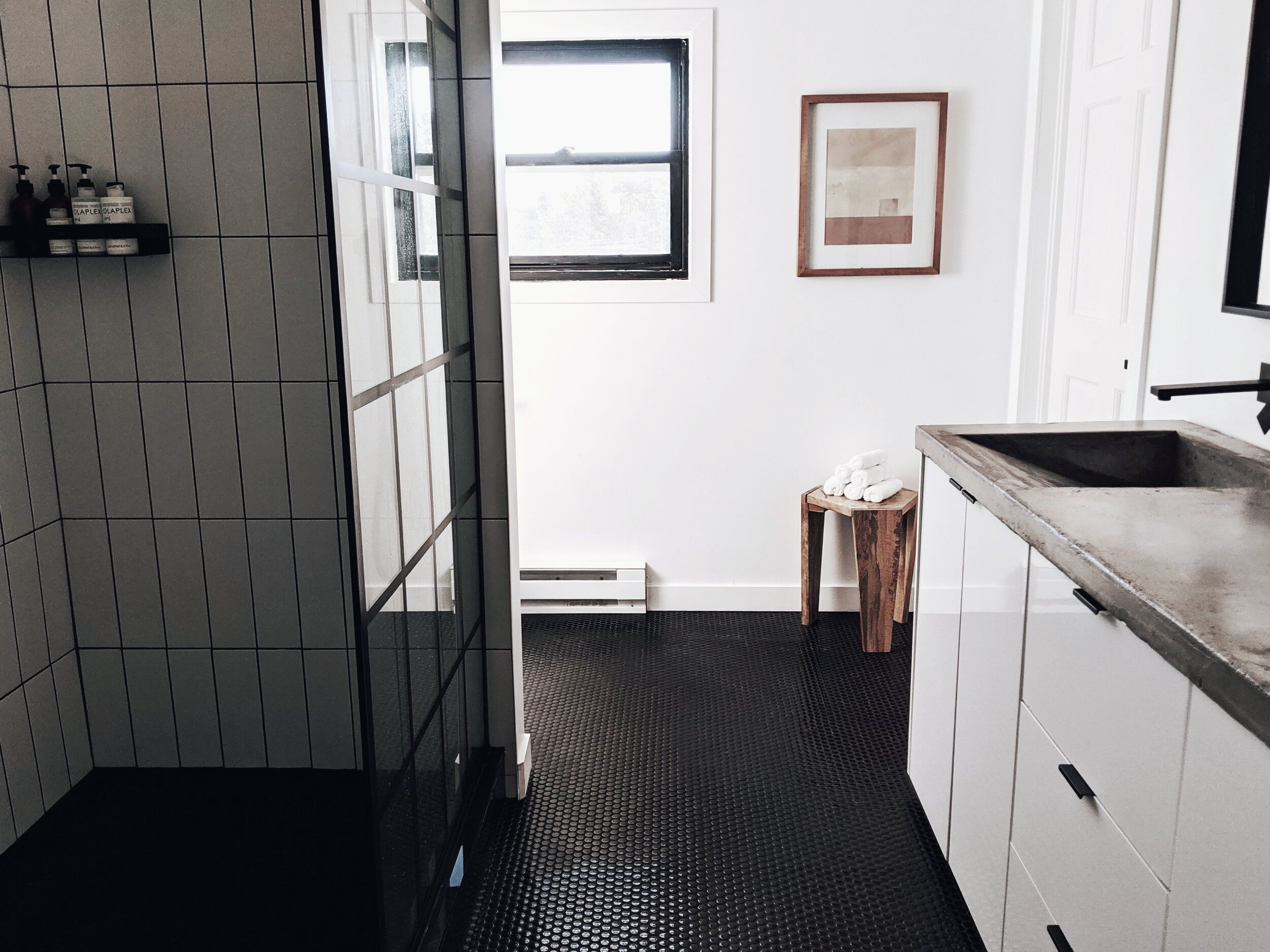 Home Series How To Get Black Grout Alliebeckwith In 2020 Window Trim Master Bathroom Renovation Black Window Trims