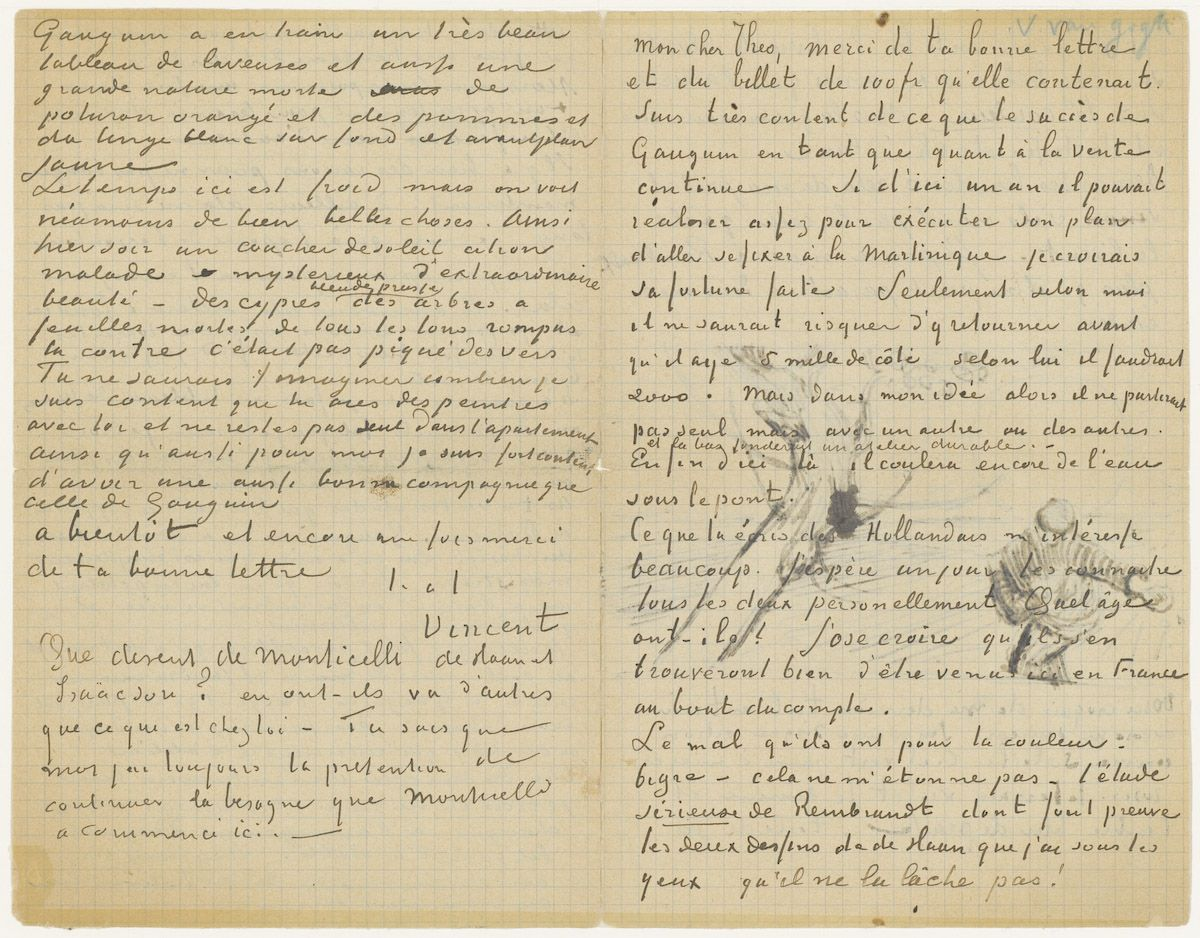 vincent van gogh letter to brother theo