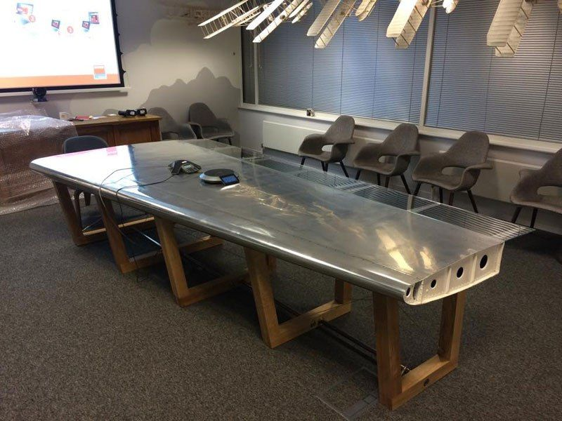 Amazing Furniture Made from Old Aircraft Parts (18 Photos)