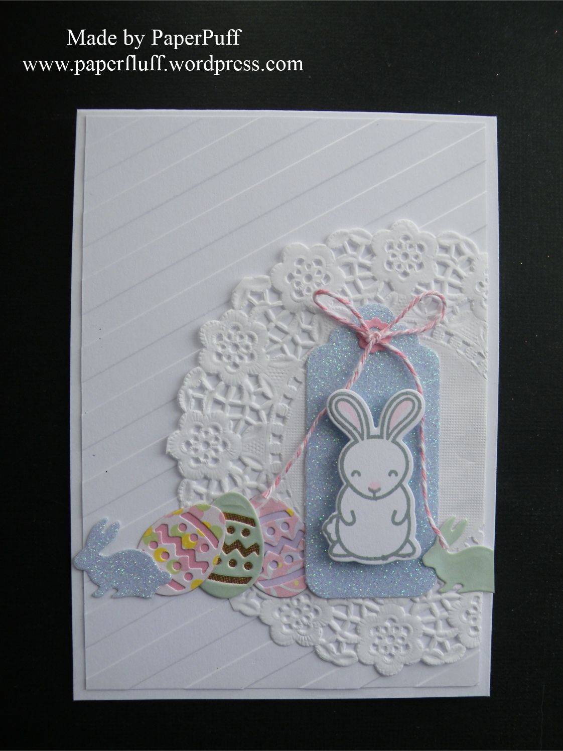 Lawn Fawn Hoppy Easter bunny stamp and die; Docrafts Xcut