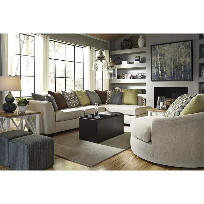 Casheral 5 Piece Ottoman Set In Brown Nebraska Furniture Mart Conjunto Sala De Estar Moveis Para Sala De Estar Design De Sala De Estar