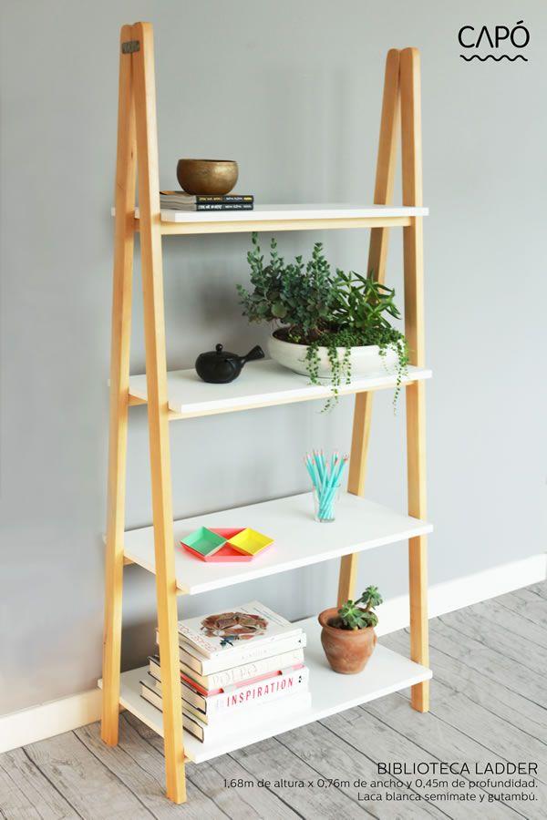 Escalera 0 things i pinterest escalera repisas y for Repisas para escaleras