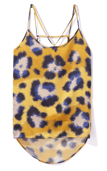 Hammered Leopard Silk Top by Kenzo for Preorder on Moda Operandi