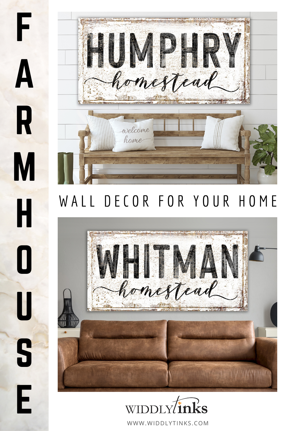 Add a touch of modern farmhouse charm to your walls with