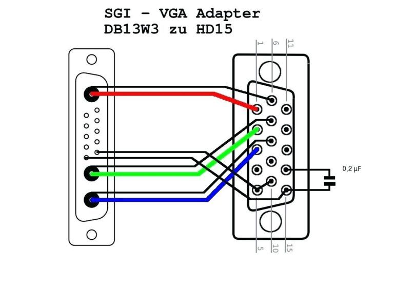 vga to component breakout cable diagram converter wiring