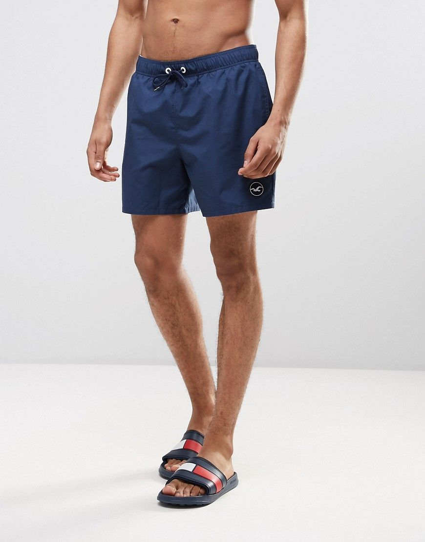 7b8e603c51 Hollister Guard Swim Shorts Solid Seagull Logo in Navy | Products ...